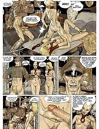 Porn comic with girls in threesome