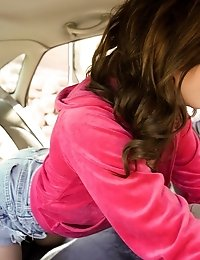 Cute Coed Kasey Warner Shows Her Appreciation For The Ride With An Enthusiastic Blowjob And A Backse