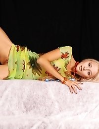 Delicious Beauty With Hot Body Enjoying Photo-session And Taking Off Her Green Dress