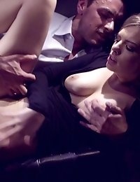 Sultry Babe Zoe Wood Gets It On In A Limousine As She Puts Her Nubile Body To Work Sucking And Fucki