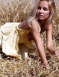 Stunning Teen Model Gets Naked In The Fields Where Her Food Is Grown To Give Some Her Sexiness To Th