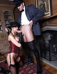 Naughty babe Jasmine gets pounded by her servants
