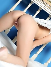 Sweet Brunette Kitten Exposes Her Delicious Naked Body As She Plays A Role Of A Sexy Angel.