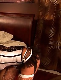 Kinky milf in sexy lingerie takes full control