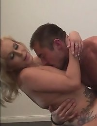 Tempting blonde Milf seduces and fucks a young guy