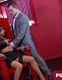 Horny knocker Tiffany fucked by the mafia boss