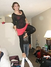 Drunk upskirt girls have a blast