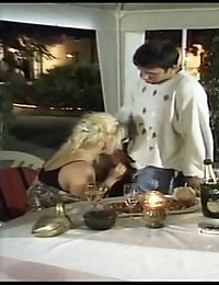 Horny mature blondes pissing and getting banged