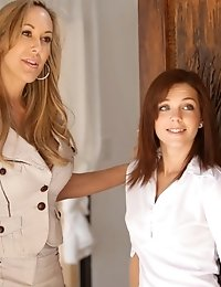 Buxom Brandi Love Teaches Her Student How To Please Her Kiera Winters Then Coaches Them Through A Ho