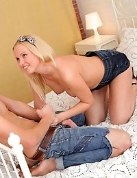 Cute Little Blonde Debby Gets Her Pussy Well And Truly Fucked