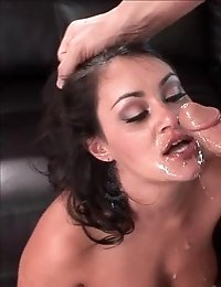 Hot babes enjoy blowjobs in an instructional video