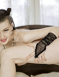 Astonishing Brunette Teen Posing Like A Professional. The Entire Topic Of The Photo Session Is About