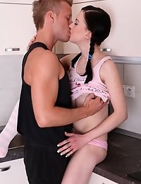 Olga Is The Brunette Of The Moment At 18 Year Old Virgin Sex. She Was A Little Innocent When She Joi