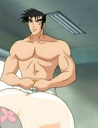 Nasty anime with really fat dick packing cunt from behind