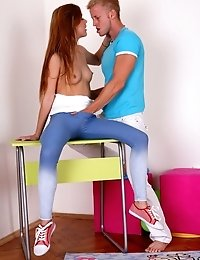 Sindy Loves Having Her Virgin Body Played With And Her Breasts Licked And Sucked.