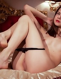 She Is Alone In A Hotel Room And That Sexy Underwear She Has On Her Teen Body Is About To Slip Off O