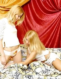 Lesbian Angels In A Sizzling Bedroom Play