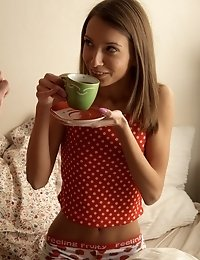 Veronica Had A Coffee And Wild Sex In Bed.