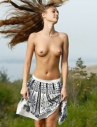 Will You Let This Irresistibly Sexy Long - Haired Girl Enjoy You With Her Nice Show Outdoors