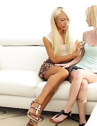 Horny Blondes Katerina Kay And Sammie Daniels Use Their Magic Fingers To Satisfy Each Others Bald Ju