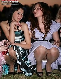 Mature upskirt and young girls panty flash