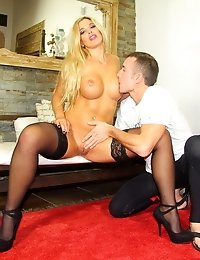 Alluring blonde babe getting fucked really good