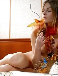 This Awesome Teen Is Fond Of Butterflies Very Much Thats Why Today She Looks Like A Butterfly Too Ha