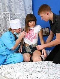 Doctor And Horny Stud Deflowered Young Franceska.