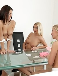 Blonde Babes Karol Lilien And Cayla Join Hottie Vanessa Decker For A Sensual Lesbian Menage A Trois
