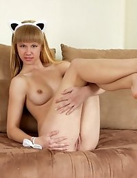 Kitten Is Feeling Very Joyful While She Reveals What Perfectly Shaped Breasts She Has Beneath Her Se