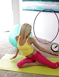 Braces Wearing Blonde Piper Perri Finishes Her Workout With A Wet And Wild Blowjob And A Raunchy Fuc