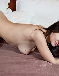Posing Nude On The Wide Hotel Bed Was The Old Wish Of This Lovely Chick. Wish Granted. Super Sexy As