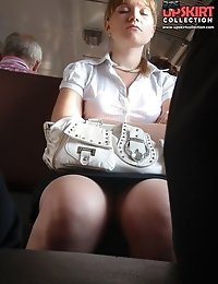 Hot upskirt hidden caught on cam in public
