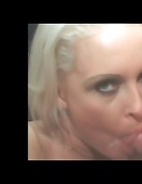 Dolly Golden gives a superiour sloppy blowjob