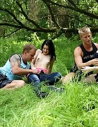 Sindy Can't Get Enough Cock Once She's Tried Out This Guys In The Woods For Her First Time